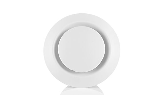 HG POWER ABS Adjustable Air Vent Round Soffit Exhaust Vent White Inline Duct Fan Outlet Vent 6 Inch