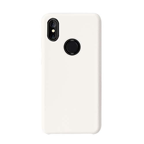 Funda Xiaomi Mi Mix 2S Teléfono Móvil Silicona Bumper Case y Flexible Resistente Ultra Slim Anti-Rasguño Protectora Caso para Xiaomi Mix 2 (White, Xiaomi Mi Mix 2S)
