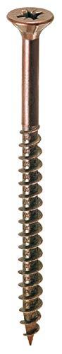 5 00 de tornillos de madera T.S.P. 12 hilos. Bronce. 4 x 30 cm.