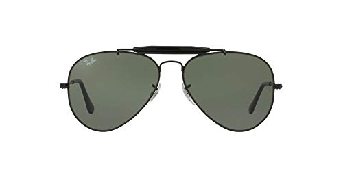 Ray-Ban UV protected Aviator Unisex Sunglasses (0RB3129I|58 mm|Green)