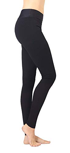 Extra Firm Footless Graduated Compression Microfiber Leggings Opaque Pants (20-30 mmHg) with Control Top (Medium)