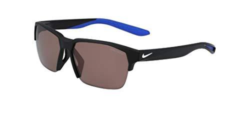 Nike CT3746-010 Maverick Free E - Occhiali da sole con montatura opaca, colore: nero/bianco, lenti da corsa, 60/13/145
