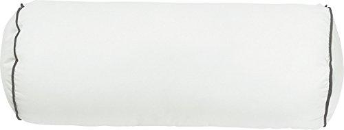 Erwin Müller Nackenrolle, Nackenkissen Textilfaser mit Biese, Größe 40x15 cm Ø - formstabil, extrem robust, Kochfest, Feuchtigkeitstransport