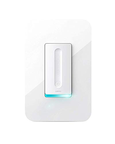 Wemo Dimmer WiFi Light Switch, Compatible with Alexa and the Google Assistant (Renewed)