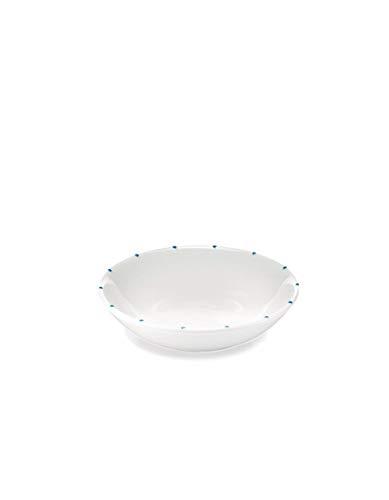 Zafferano Serie Striche Piatto Fondo in Porcellana, Diametro 220 mm, Colore Acquamarina, Lavabile in Lavastoviglie Max 60°, Confezione 6 Pezzi