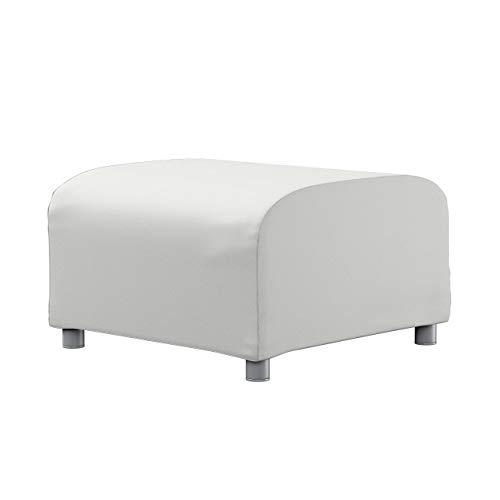Dekoria Klippan Hockerbezug Sofahusse passend für IKEA Modell Klippan hellgrau