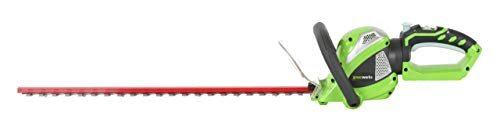 Greenworks 24-Inch 40V Cordless Hedge Trimmer with Rotating Handle, Battery Not Included 22332 (Renewed)