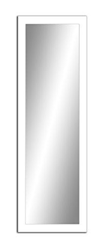Spiegel MIT Rahmen 32 GRÖßEN 100/40, 40/100cm, 11 Farben Rahmen, Handgefertigte, breiter Fester Rahmen, Stabiler Rückwand, Rahmenleiste: 60x20mm, Rahmen Farbe: Weiß Matt