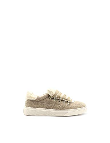 Luxury Fashion | Hogan Dames HXW3650BY60LNN0QT3 Beige Leer Sneakers | Seizoen Permanent