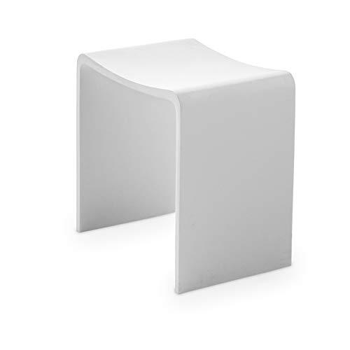 Stilform Badhocker Brooklyn aus hochwertigem Mineralguss in Weiß Matt