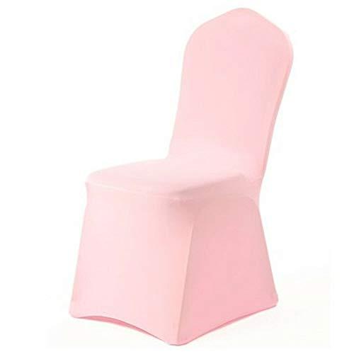 TYBXK - Fundas de silla de 2 piezas, modernas y lisas para sillas de boda, para restaurantes, banquetes, hoteles, fiestas, licra, poliéster y licra, fundas de asiento de cocina