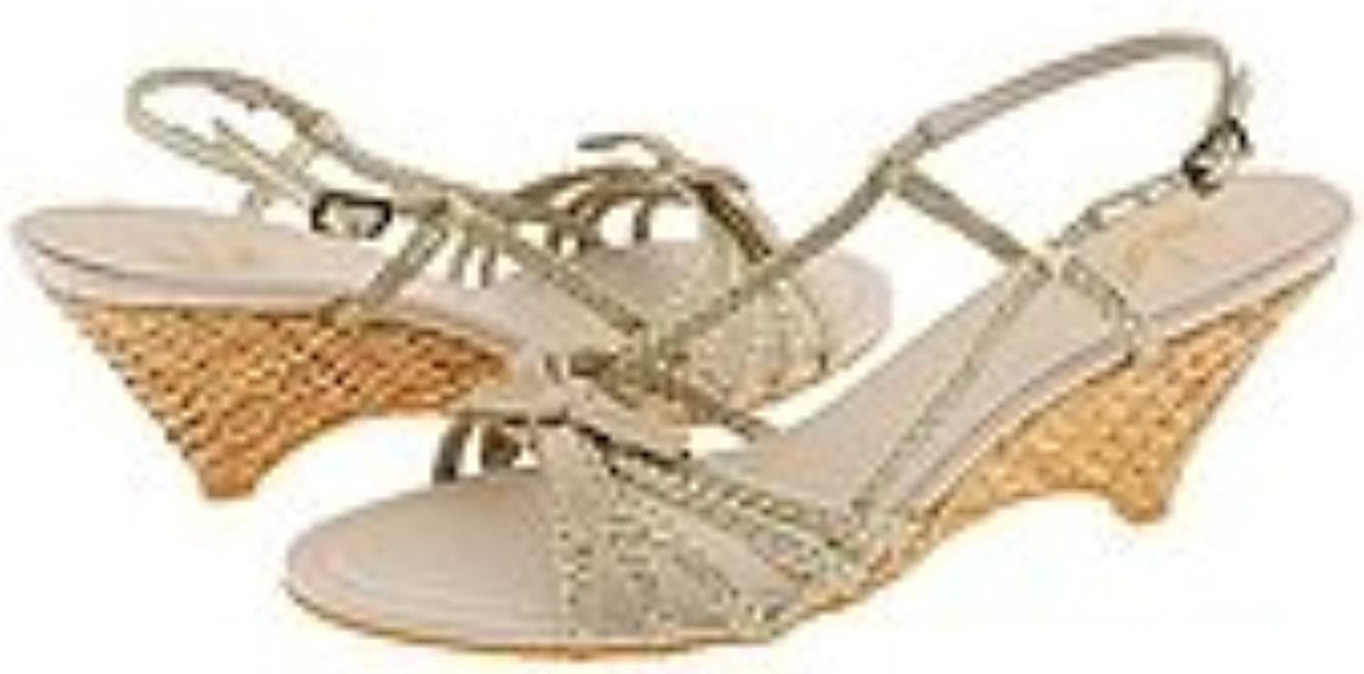 White Mountain Wicked gold Womens Wedge 7