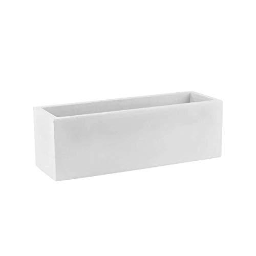 Vondom 41620 Jardinera Simple, Blanco, 20x60x20 cm