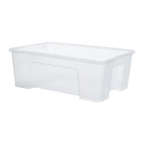 """IKEA Aufbewahrungsbox \""""SAMLA\"""" transparente Kunststoff-Box - Volumen: 11 Liter - Breite: 39 cm Tiefe: 28 cm Höhe: 14 cm"""