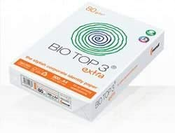 BioTop 3 Extra Kopierpapier 100g TCF von Mondi DIN A4-500 Blatt Bio Top 3