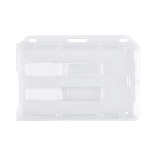 1 tarjetero de seguridad sin tarjetero para 2 tarjetas en formato 54 x 86 mm, estuche rígido cerrado y transparente con o sin tarjetero (Sin tarjetero, 1)