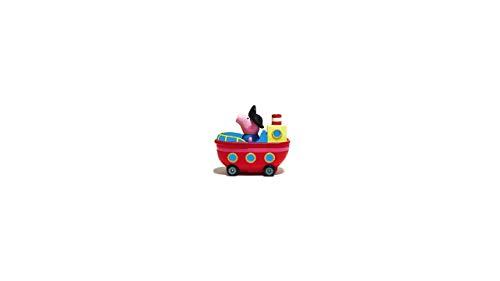 Peppa Pig Peppa Wutz Mini Flitzer Schorsch's Barco Ruedas, vaporizador con Asiento para 1 Figura, Juguete Original niños a Partir de 2 años. (Jazwares 96589)