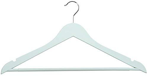 Kesper 3er Pack Kunststoff Kleiderbügel Antirutsch-beschichtet mit Hosensteg, 44,5 cm, hellblau, Garderobe & Umkleide, mit Rockkerben