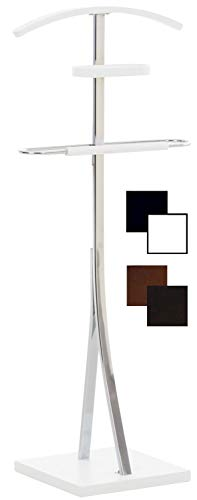 Galán De Noche Navan Hecho En Metal Cromado I Perchero De Pie para Dormitorio Moderno I Perchero Unisex 109x46x30 cm I Color:, Color:Blanco