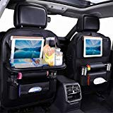 Jiadi Si Car Seat Organizer, Backseat Car Organizer, Protector Kick Mats for Kids, Table Tray,...
