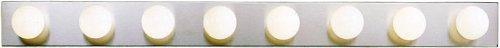 Kichler 628NI, Bath and Vanity Wall Vanity Lighting, 8 Light, 480 Total Watts, Brushed Nickel