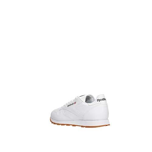 Reebok Classic Leather Zapatillas de cuero para hombre, Color Blanco, Talla 43