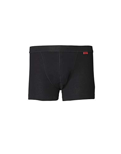 Dilling Baumwoll Boxershorts für Herren - Weiche Wäsche aus Bio Baumwolle Schwarz L