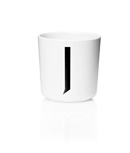 Design Letters - Melamin Becher - Buchstabe: J - Multifunktionsbecher - Arne Jacobsen