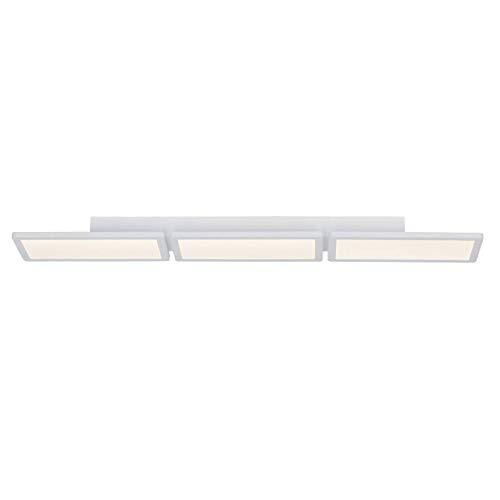 BRILLIANT lamp Scope LED plafond paneel 92x15cm mat wit easyDim |3x 13,3W LED geïntegreerd (SMD), (800lm, 3000K) |Schaal A ++ tot E |EasyDim: dimbaar met conventionele lichtschakelaars