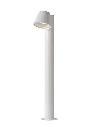 Lucide DINGO-LED - Borne Exterieur Extérieur - LED Dim. - GU10 - 1x4,5W 3000K - IP44 - Blanc