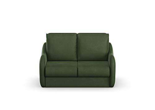 DOMO. Collection Sofa Echo, 2-Sitzer mit Hocker, Polstermöbel 140cm Sitzbreite, Funktionssofa, 164x107x96 cm, Couch in grün
