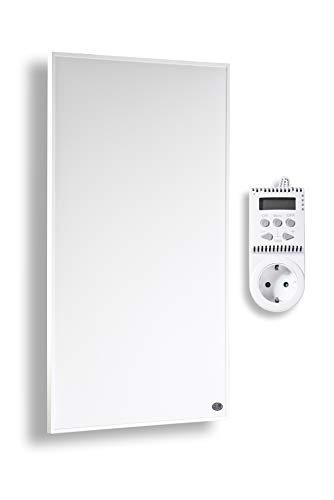 Könighaus Infrarot Heizung 800 und 1000 Watt mit TÜV + 10 Jahre Garantie ✓Infrarotheizung für 12-34m² (800W + Thermostat)