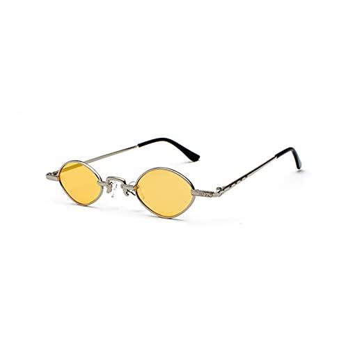 LUOXUEFEI Gafas De Sol Gafas De Sol Hombre Negro Rojo Claro Lente Pequeño Ovalado Gafas De Sol Mujer
