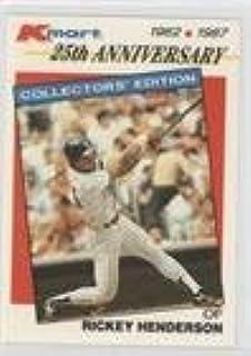 Amazoncom Rickey Henderson Baseball Card 1987 Topps
