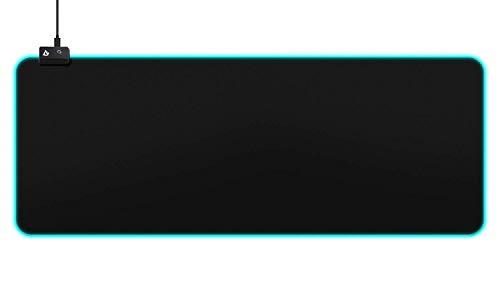 AUKEY RGB Mauspad Gaming Großes Mousepad (800x300x4mm) mit 16,8 Millionen Farben, 10 Beleuchtungs Modi, LED Gaming Mouse Pad Large für Tastatur, Computer