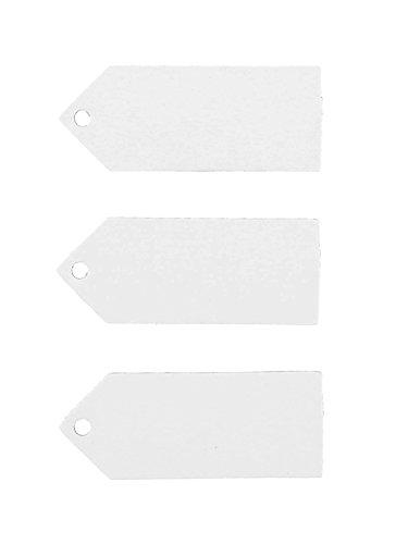 Generique - 24 Etiquettes Blanches 5 x 2 cm