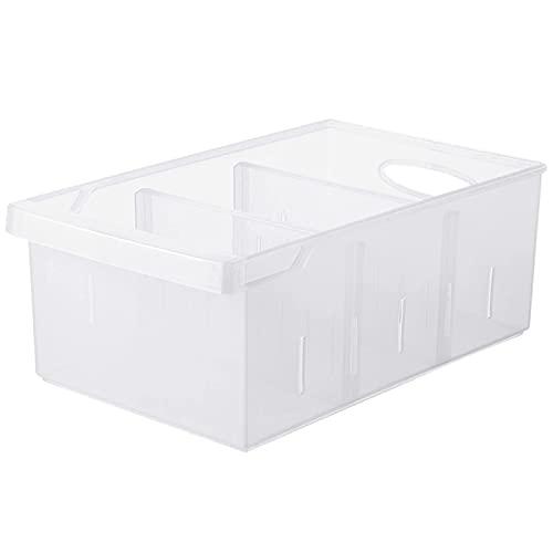 Contenedor para Nevera Contenedores de plástico para Almacenamiento Frutas y Verduras Cesta para refrigerador de Almacenamiento Separado