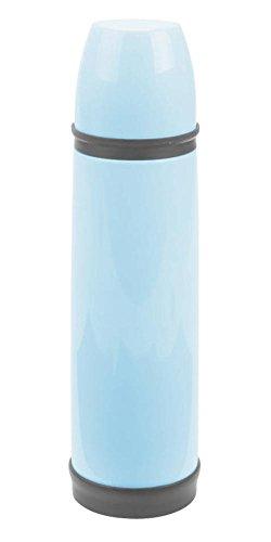 Culinario Thermoflasche mit Trinkbecher, aus Edelstahl/Kunststoff, doppelwandig, trendiges Design, ca. 0,5 Liter, in blau