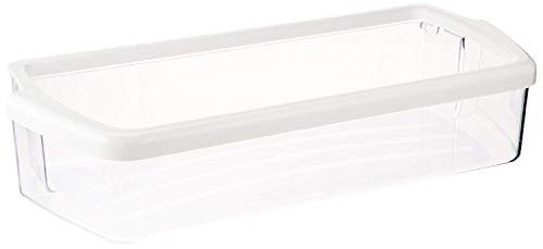 Kitchen Basics 101 W10321304 Replacement for Whirlpool Clear Door Bin with White Band on top