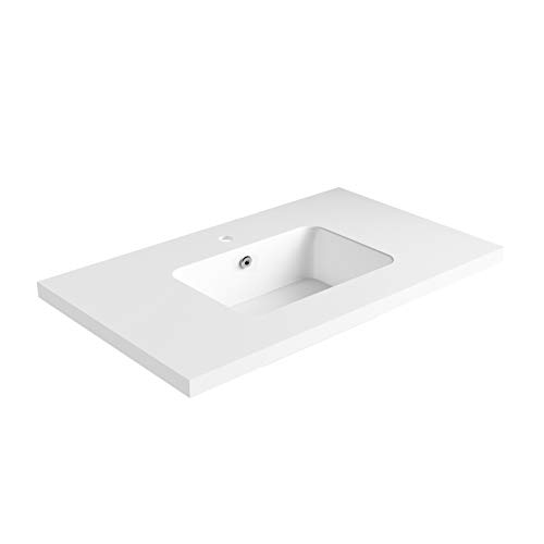 Dyconn Faucet True Solid Surface Single-Bowl Vanity Top (36