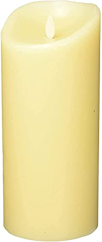 Flameless Vanilla Scented Moving Flame Candle with Timer (9 Ivory)