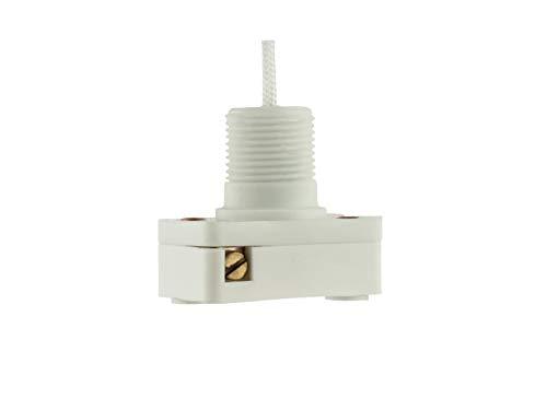 Castelco Interrupteur à tirette, marche/arrêt, 1 Amp 250 VAC, 600 mm, cordon blanc de haute qualité