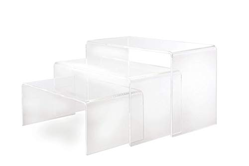 Eeze Limited Large Crystal Clear Acrylic Plinths for Display's Set of 3