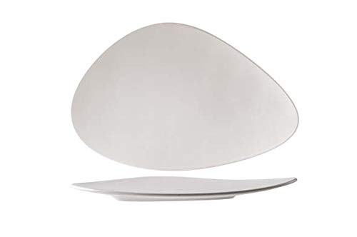 Oscar White Teller Flach 35,2x23,1cmdreieckig