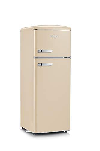 SEVERIN Retro - Kühl-/ Gefrierkombination, 164 L/44 L, Energieeffizienzklasse A++, RKG 8933, crème