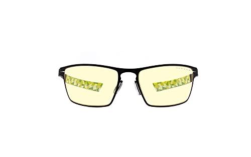 GUNNAR Gaming and Computer Eyewear   ESL Blade, Onyx Frame, Amber Tint   Patented lens, 65% Blue Light Protection, 100% UV Light   Reduce Eye Strain & Dryness