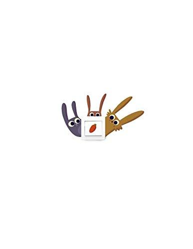 Sticker voor stopcontact of schakelaar, motief: konijntje