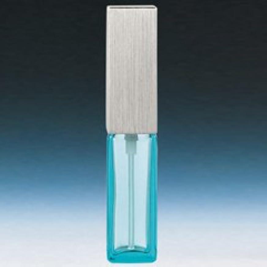 湿度リード進化【ヤマダアトマイザー】メンズアトマイザー 15493 角ビン ブルー キャップ ヘアラインシルバー 4ml