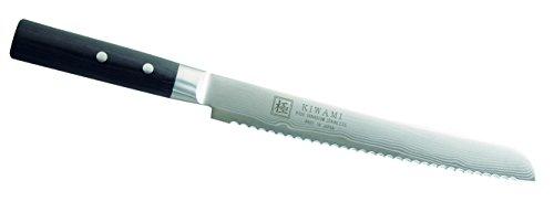 Kiwami Japanisches Brotmesser, rostfrei, 33 Lagen Damast, schwarzes Pakkaholz, Geschenkschachtel Kochmesser, Mehrfarbig, One Size