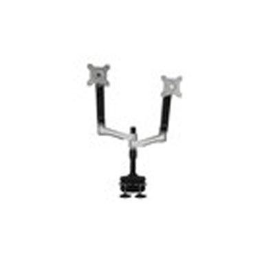 """Planar Systems 997-7031-00 Dual Arm Desk Stand, TAA Compliant, Supports LCD Monitor 15"""" To 24"""" and Under 26.5 lb. Per Arm, 75 mm or 100 mm Vesa"""